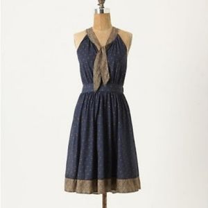 Tie Neck Windsor Knot Anthropologie Deletta Dress